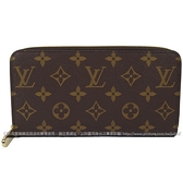 Louis Vuitton LV M41894 ZIPPY 新版經典花紋拉鍊長夾.粉紅色 全新 現貨【茱麗葉精品】