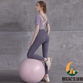 瑜伽服女夏季薄款外穿緊身高腰提臀跑步速干蜜桃臀健身褲【創世紀生活館】