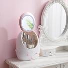 抽屜式化妝品護膚品收納盒 桌面網紅鏡子 整理置物架-新年狂歡!!