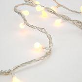 180燈LED圓球跑馬燈 暖白(透明線)
