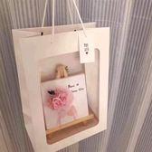 櫥窗手提禮品袋,花束開窗式手提袋(不包含花材與圖中禮品),單個價