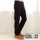 【2082】簡約時尚穿搭伸縮修身休閒長褲(黑色)● 樂活衣庫