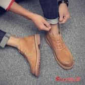 馬丁靴男 男士冬季加絨馬丁靴男棉鞋高筒英倫中筒雪地工裝靴子短靴低筒男鞋 4色38-44 快速出貨