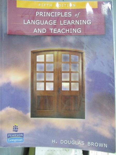 【書寶二手書T3/大學教育_ZJR】Principles of Language Learning And Teachi