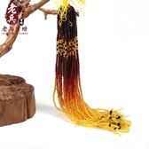 【新年鉅惠】老兵天然琥珀蜜蠟彩虹鍊吊墜鍊子男女款金珀圓珠血珀掛鍊毛衣配鍊