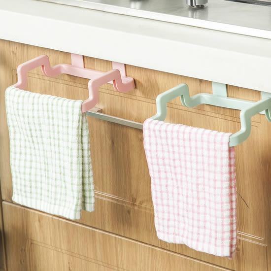 ♚MY COLOR♚門背式多功能掛架 廚房 抹布 毛巾 雜物 浴室 可調節 可旋轉 簡易安裝【R045】