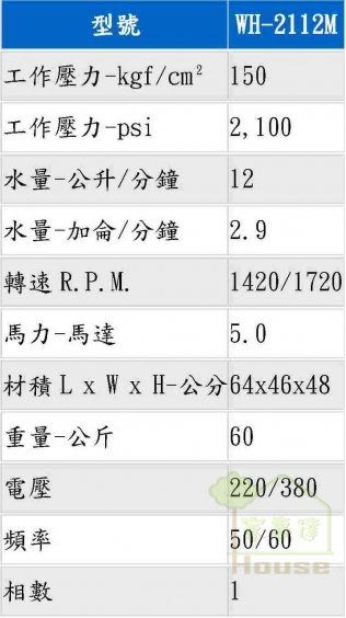 [ 家事達 ] 臺灣物理 專業電動高壓清洗機-5HP(單相)  特價 附:噴槍.噴嘴.高壓管.吸水管+過濾網{全配}