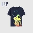 Gap男幼童 Gap x Disney 迪士尼系列聯名純棉T恤 681419-藏青色