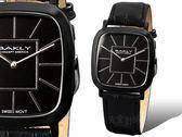 【完全計時】手錶館│BAKLY 都會時尚簡約錶 黑鋼皮帶款 瑞士機芯/水晶鏡面BAS6311新品