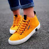 高筒女鞋 人本高筒帆布鞋女夏學生韓版潮ulzzang原宿百搭平底休閒女士板鞋 米蘭街頭
