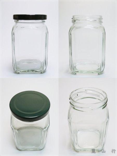 金色蓋子400cc四角瓶 RP127 玻璃罐.玻璃瓶.醬菜瓶.
