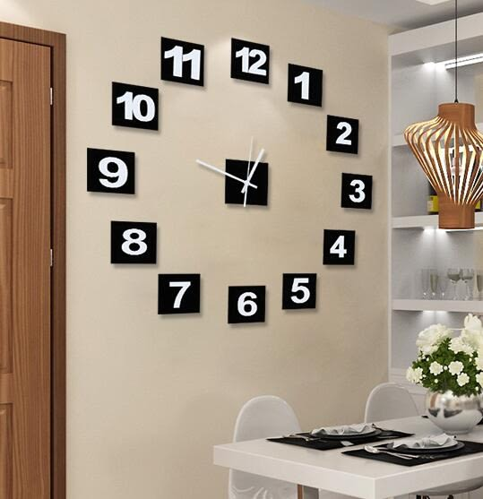 美世達現代個性DIY掛鐘客廳靜音藝術鐘錶壁鐘時尚臥室創意時鐘(20英吋加厚款)