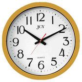 [奇奇文具]【JCY 時鐘】JCY W-9122 台製石英掛鐘/石英鐘40cm (銀色/金色)