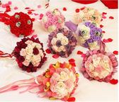 仿真韓式婚禮玫瑰花束新娘手捧花結婚