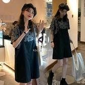 孕婦夏裝套裝背帶夏天裙子夏季連身裙【Kacey Devlin】