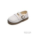 英倫風兒童皮鞋新款女童休閒單鞋牛筋軟底寶寶鞋1-7歲男童鞋 夢幻小鎮