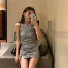 VK精品服飾 韓國風性感露肩兩穿設計顯瘦...