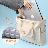 筆電包手提單肩包斜背包筆記本電腦包女13.3吋14吋15.6吋12吋帆布包 樂淘淘