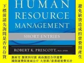 二手書博民逛書店The罕見Encyclopedia of Human Resource Management, Volume 1: