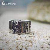 男士鈦鋼戒指霸氣骷髏頭字母潮流食指環個性尾戒子