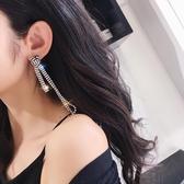 【限時下殺89折】閃爆水晶流蘇氣質耳飾品耳墜簡約個性韓國百搭耳釘耳環女交換禮物