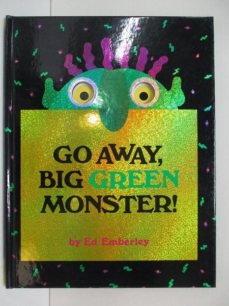 【書寶二手書T1/少年童書_DPX】Go away, big green monster!_Emberley, Ed