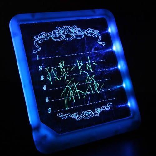 創意小熒光留言板寫字板書寫板led手寫板電子發光黑板廣告牌兒童