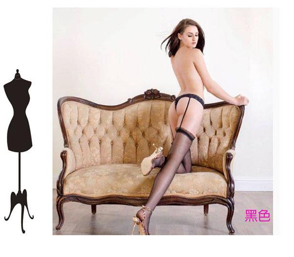 一體成型情趣襪子 開襠內褲吊帶襪~流行E線B8017