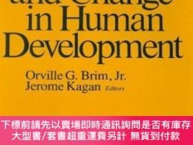 二手書博民逛書店Constancy罕見And Change In Human DevelopmentY255174 Og Br
