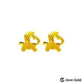 JoveGold漾金飾 活潑小馬黃金耳環