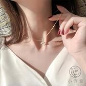 百搭氣質輕奢925純銀項鍊女鎖骨鍊簡約不褪色【小酒窝服饰】