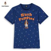 Hush Puppies T恤 男裝夏日趣味滿版印花刺繡狗T恤