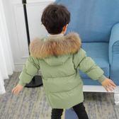 雙十二狂歡 新款兒童羽絨服毛領男童新款加厚寶寶嬰兒童裝外套冬季女童中長款 挪威森林