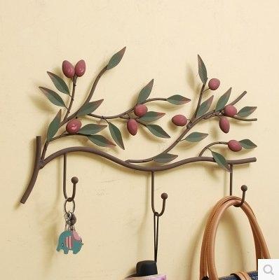 英倫歐堡 歐式田園鐵藝掛衣鉤衣帽架 創意壁掛壁飾牆壁裝飾掛鉤