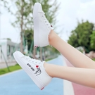 運動鞋 春秋2020女孩帆布鞋子可愛鞋中學生運動板鞋14歲女大童平底單鞋女 快速發貨