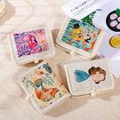 可愛帆布零錢包女短款折疊卡包