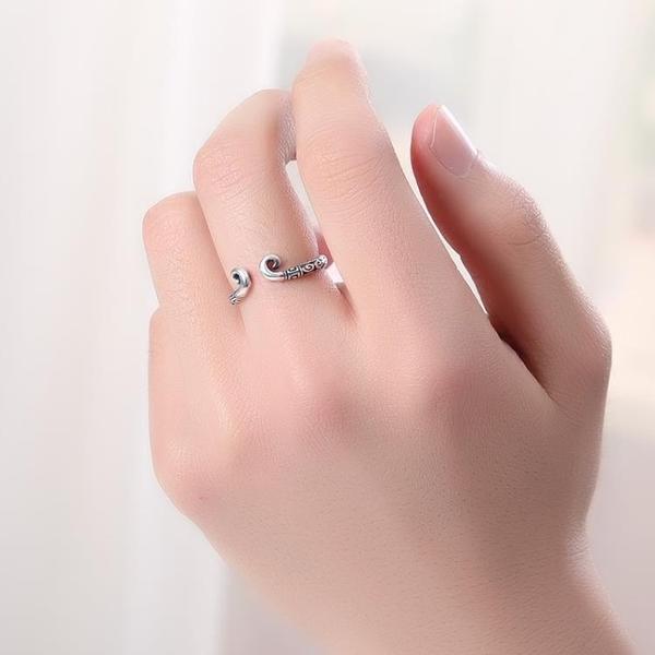 戒指 天天特價925純銀緊指戒指情指戒潮人個性孫悟空金箍指戒【星時代女王】