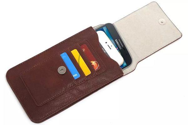 【MK馬克】6.3吋 皮質直立式手機套 腰扣式 皮帶式 帶掛勾 可插卡 可放兩支手機 plus NOTE5 Z4 Z5 G4 HTC