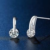耳環 925純銀鑲鑽-別緻閃耀生日情人節禮物女飾品73hk6[時尚巴黎]