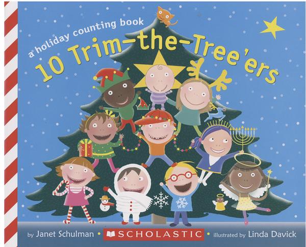【麥克書店】10 TRIM -THE- TREE'ERS/ A HOLIDAY COUNTING BOOK/ 平裝繪本《主題: 聖誕節》