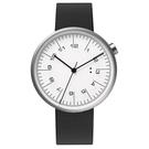 【萬年鐘錶】10:10 BY NENDO draftsman 001 策畫者系列 銀框/黑米蘭帶  錶徑35MM