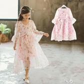 洋裝兒童洋氣連身裙中大童公主裙夏潮衣 E家人