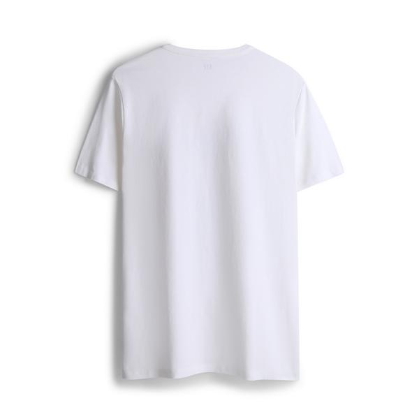 Gap男裝時尚潮流印花圓領短袖T恤567671-光感亮白
