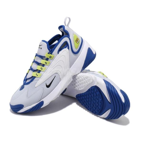 Nike 休閒鞋 Zoom 2K 藍 灰 男鞋 運動鞋 復古慢跑鞋 老爹鞋 【ACS】 AO0269-011