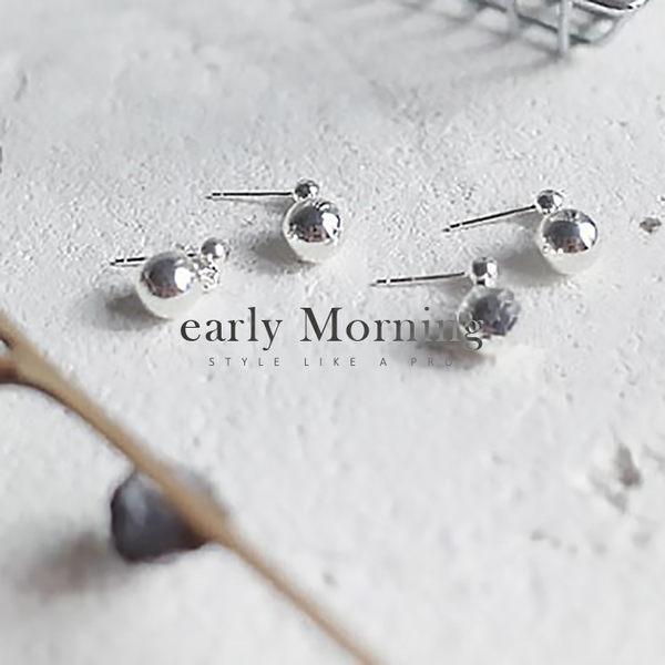 early Morning - 925純銀 小銀球耳環 防過敏 純銀 韓版【CHF018】