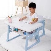 兒童書桌 寫字桌椅套裝寫字臺小孩學習桌學生寫字課桌簡約家用幼兒書桌【快速出貨八折下殺】