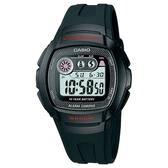 【CASIO】 十年電力風潮酷炫電子錶-黑(W-210-1C)
