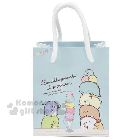 〔小禮堂〕角落生物 迷你方形手提紙袋《淡綠.冰淇淋》包裝袋.送禮紙袋.手提袋 4714551-87532
