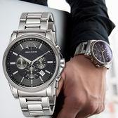 【人文行旅】A/X Armani Exchange   亞曼尼 AX2084 簡約線條感三眼腕錶