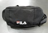 FILA 黑色腰包側背包-NO.BWT-9031-BK